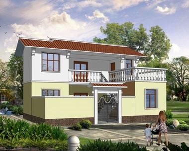 [永云别墅]AT280简约农村二层小别墅设计图纸10m×9m