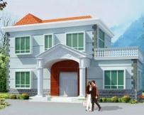 [永云别墅]AT353新农村露台二层别墅设计图纸16m×11m
