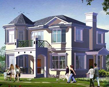 [永云别墅]AT289二层私人豪华别墅建筑结构水电施工图纸12m×11m
