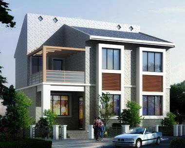 A07舟山海岛特色二层别墅设计图10m×8m