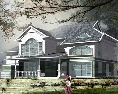 686两层农村别墅住宅全套施工图20m×14m