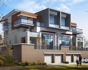 659三层联排豪华别墅设计图纸24m×13m