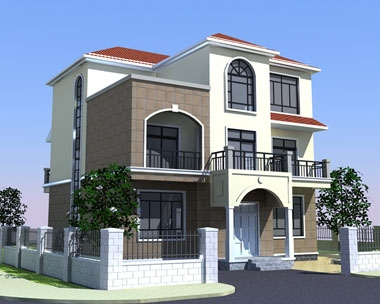 AT132三层漂亮简欧式别墅建筑施工设计图纸12m×13m