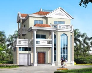 永云别墅AT12三层豪华别墅设计带露台车库复式楼全套图纸 13×15m