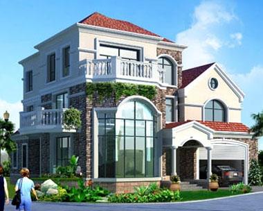 [永云别墅]AT921三层复式客厅带双车库豪华别墅全套设计图纸14.9m×14.7m