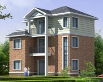 AT827三层带阁楼自建房别墅建筑设计图纸11m×9m