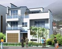 AT361带车库阳台 三层别墅建筑结构施工图纸 10m×10m
