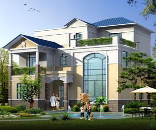 【永云别墅】AT10简欧式楼中楼三层带露台复式别墅设计图纸13m×14m