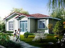 [永云别墅]AT003一层新农村房屋设计全套别墅图纸12m×9m