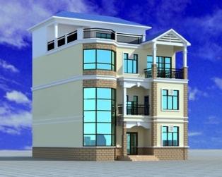 【永云别墅】AT396四层复式别墅建筑构结构水电设计图纸 10m×11m