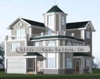 995三层欧式别墅全套施工方案图纸13m×12m