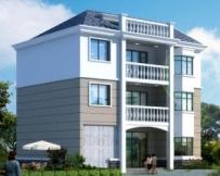 AT911三层新农村别墅自建房设计图纸12m×11m