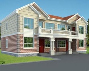 [永云别墅]AT291大气带阁楼二层双拼别墅结构水电设计图纸18m×11m