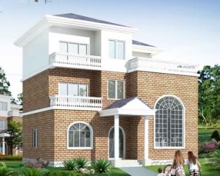 619新农村三层住宅别墅设计图纸11m×11m