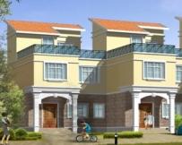 616三层实用联排别墅建筑设计图8m×16m