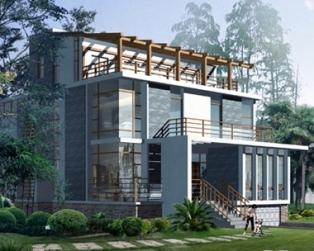 [永云别墅]AT429四层私人会所型豪华别墅建筑设计图纸14m×15m