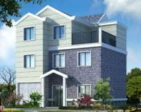 AT930现代三层全套经典实用别墅设计图纸10.5m×11m