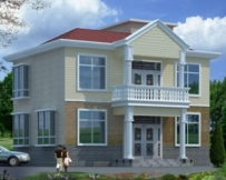 AT365二层新农村小别墅设计图纸全套及效果图11m×9m