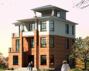 AT139三层新农村古典风格别墅全套图纸12m×11m