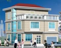 AT917三层农村带车库别墅建筑结构设计图纸9m×12m