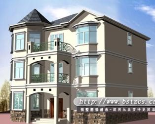 678某私人三层别墅设计施工图纸12m×11m