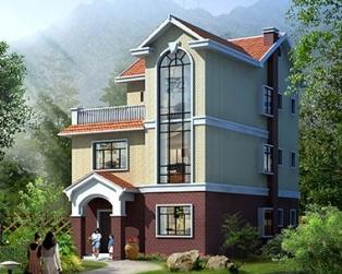 AT121乡村三层小别墅带露台建筑结构施工设计图纸9m×12m