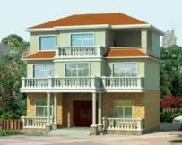 AT31三层经典新农村住宅别墅建筑施工图纸及效果图 13m×12m