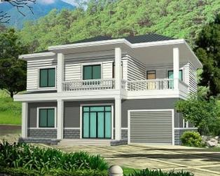 AT222二层现代简约带车库小别墅全套设计图纸12m×13m
