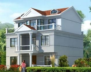 永云别墅 AT130三层120平米新农村别墅自建房房图纸11m×10m