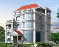 AT128四层豪华大型复式楼别墅设计施工图纸 17m×16m