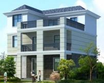 AT127三层带露台健身室别墅建筑结构施工图纸11.5m×11.5m