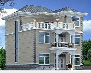 [永云别墅]AT961三层带露台别墅全套水电结构设计图纸11m×9m