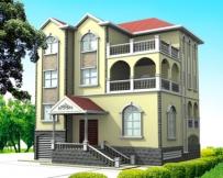 [永云别墅]AT838欧式古典三层别墅建筑结构图纸 13m×12m