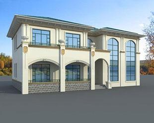 【永云别墅】AT286带屋顶花园二层复式客厅别墅图纸20m×10.6m