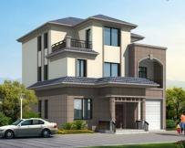 [永云别墅]AT126 砖混结构三层豪华别墅全套图纸及效果图10m×13.7m