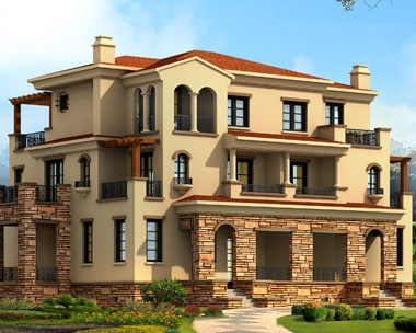 642三层联排别墅住宅建筑施工图20m×16m