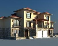 641双拼二层半别墅住宅建筑图纸51m×13m