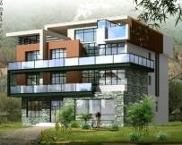 【永云别墅】AT05四层私人会所型别墅效果图及全套施工图纸 16m×16m