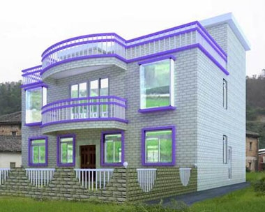 552农村三层简约时尚别墅设计图纸12m×11m