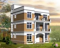 【永云别墅】AT420现代风格三层半平顶别墅施工设计图纸12m×12m
