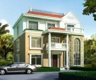 永云别墅AT26三层带露台复式客厅豪华别墅设计图纸13m×13m