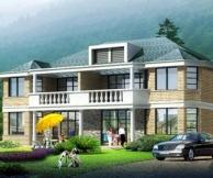 【永云别墅AT15】二层带露台阳台兄弟双拼别墅建筑设计施工图纸16mx14m