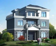 AT19三层经典别墅全套自建房设计图纸及效果图 12m×9m