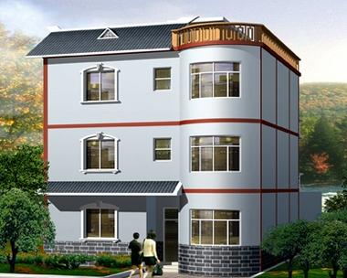 AT162新农村现代三层别墅全套设计图纸11m×11m