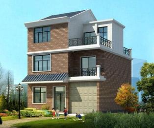 AT176三层新农村别墅房屋建筑结构设计图纸9m×10m