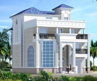 [永云别墅]别墅图纸超市 AT465三层半带屋顶花园复式楼别墅设计施工图纸
