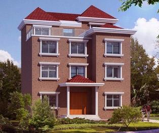 AT409四层新别墅住宅设计农村图纸11m武汉不可思议的建筑设计图片