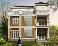 [永云别墅]AT970三层复式客厅私人别墅房屋设计图纸13m×13m