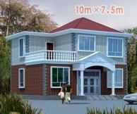 [永云别墅]AT387新农村优雅小户型二层别墅设计图纸10m×8m