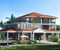 永云别墅AT901豪华三层别墅设计建筑及水电全套施工图纸23.04m×15.39m
